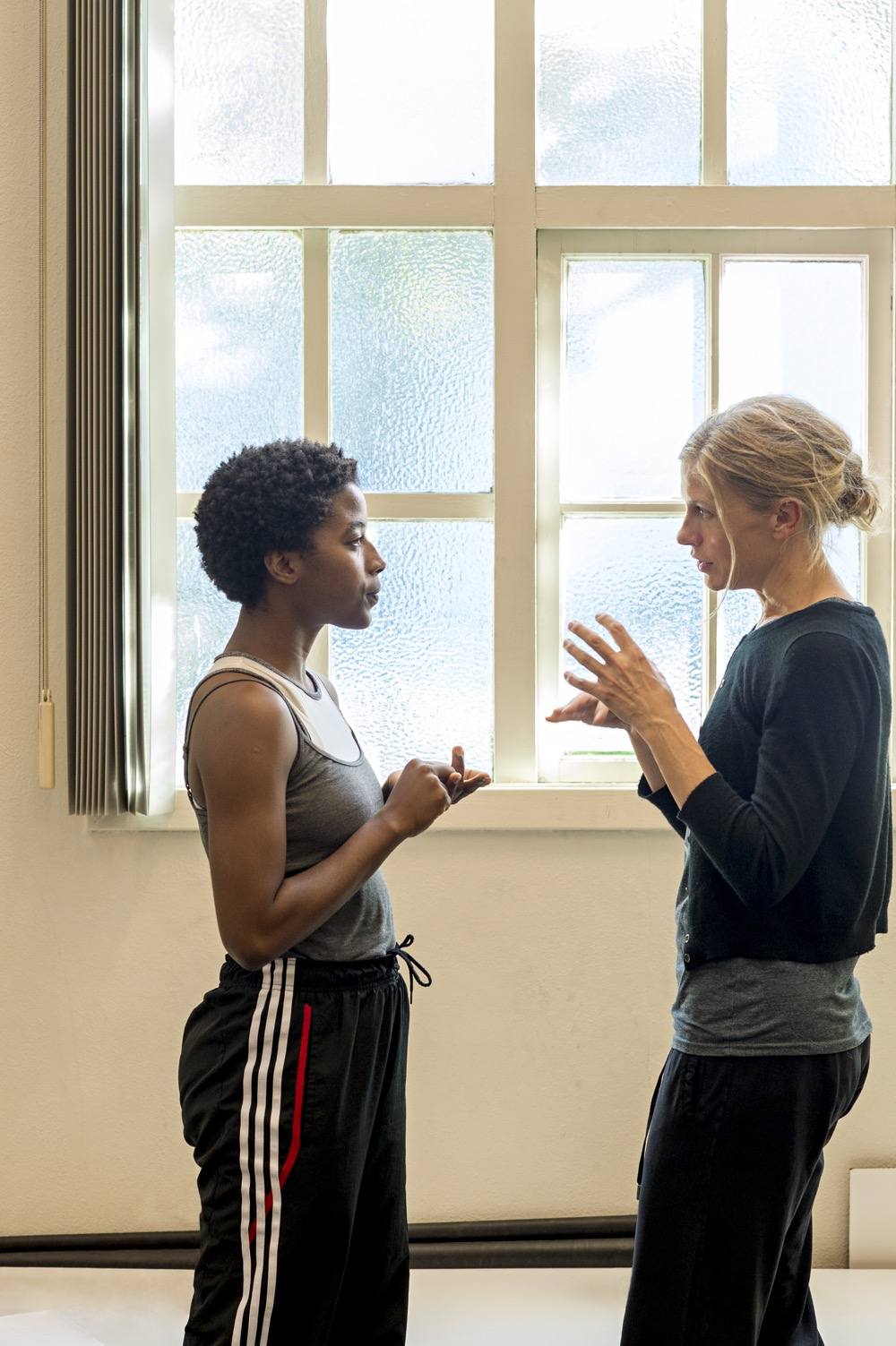 Dance Mentor Crystal Pite and Protégée Khoudia Touré During a Work Session (Photo by Rolex/Tina Ruisinger)