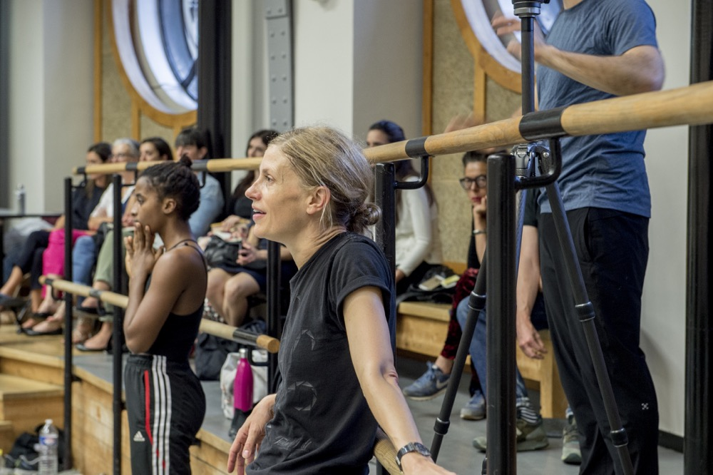 Dance Protégée Khoudia Touré and Crystal Pite Observe a Rehearsal at the Opéra national de Paris (Photo by Rolex/Tina Ruisinger)