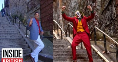 Joker Fans Flock to Staircase