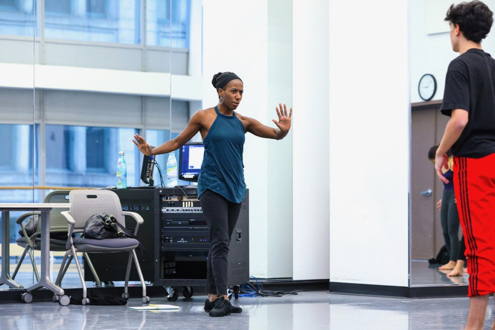 Keesha Beckford Teaching - Photo courtesy of The Joffrey Ballet