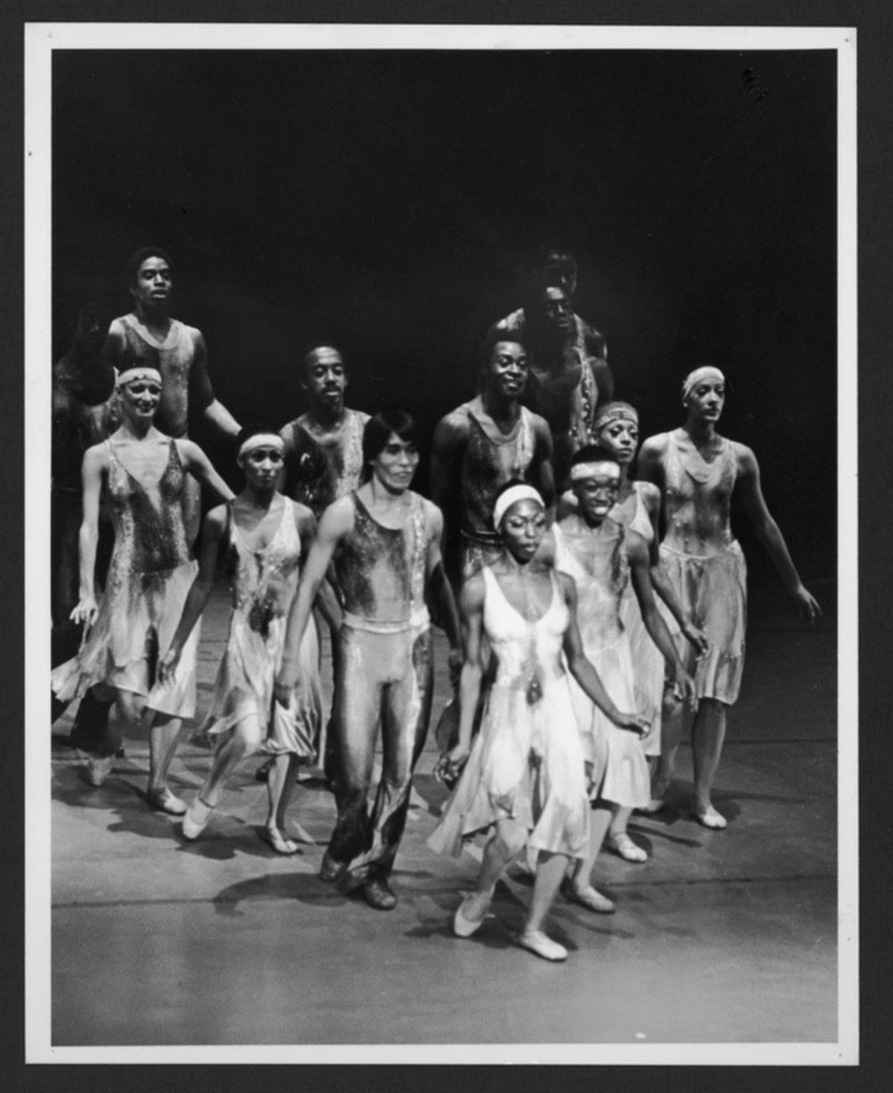 Masazumi Chaya second row left and the Company in Alvin Aileys Night Creature. Photo by Johan Elbers