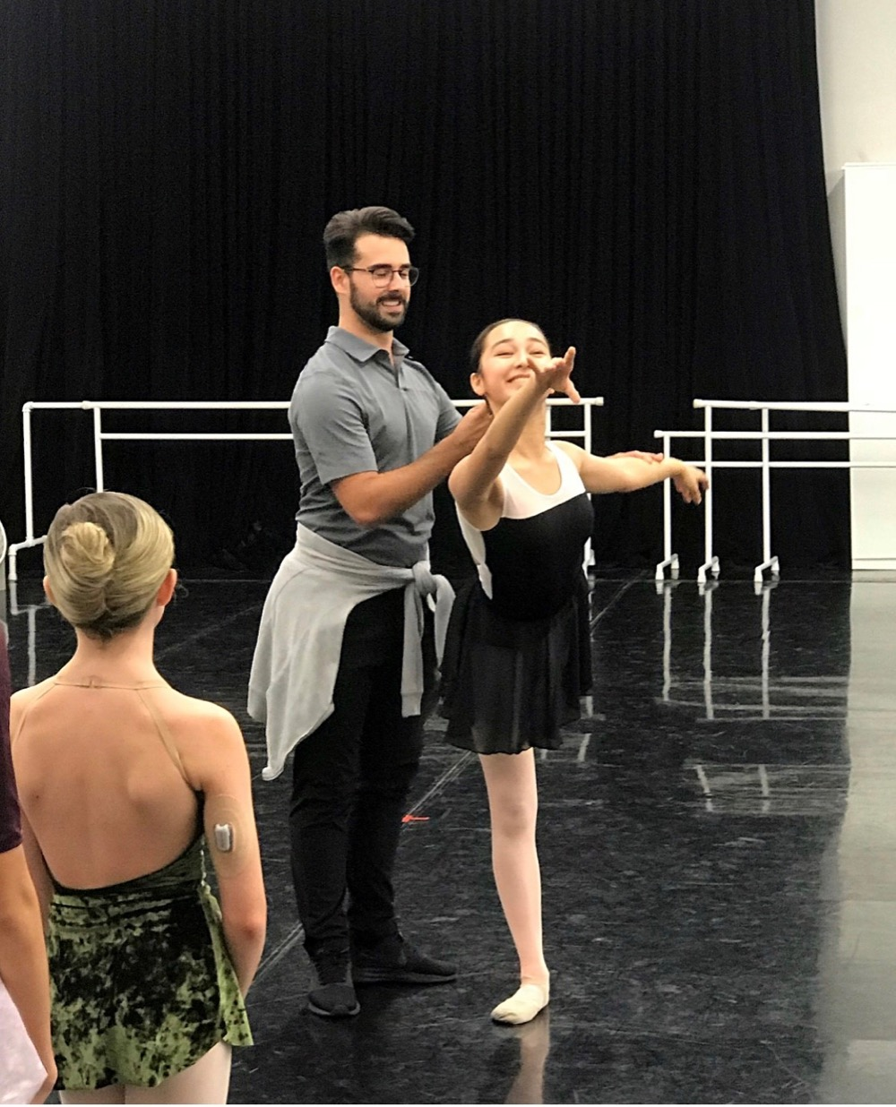 Jose Carayol Preparing for Performance (Courtesy of The Joffrey Ballet in Chicago)