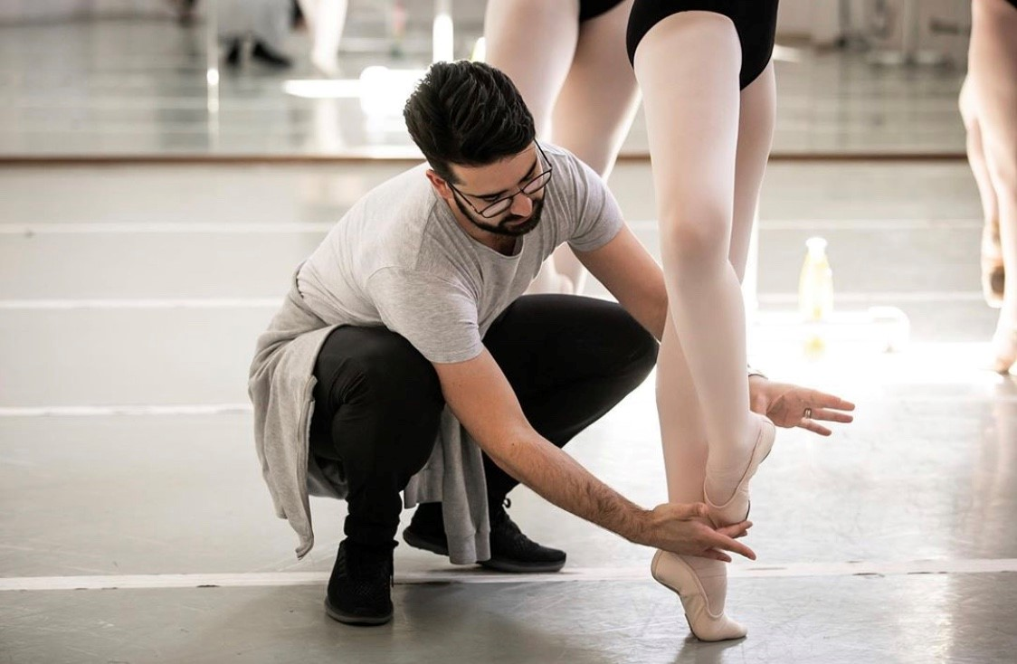 Jose Carayol in the Studio (Courtesy of The Joffrey Ballet in Chicago)