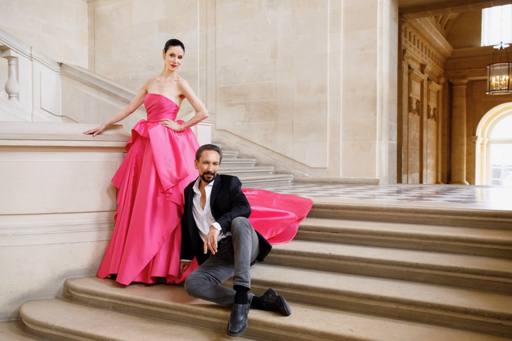 Jeannette Lajeunesse Zingg and Marshall Pynkoski Posing on Stairs
