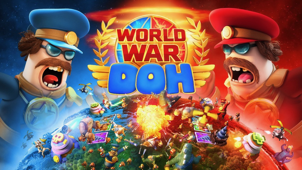Graphic for World War Doh with two angry characters