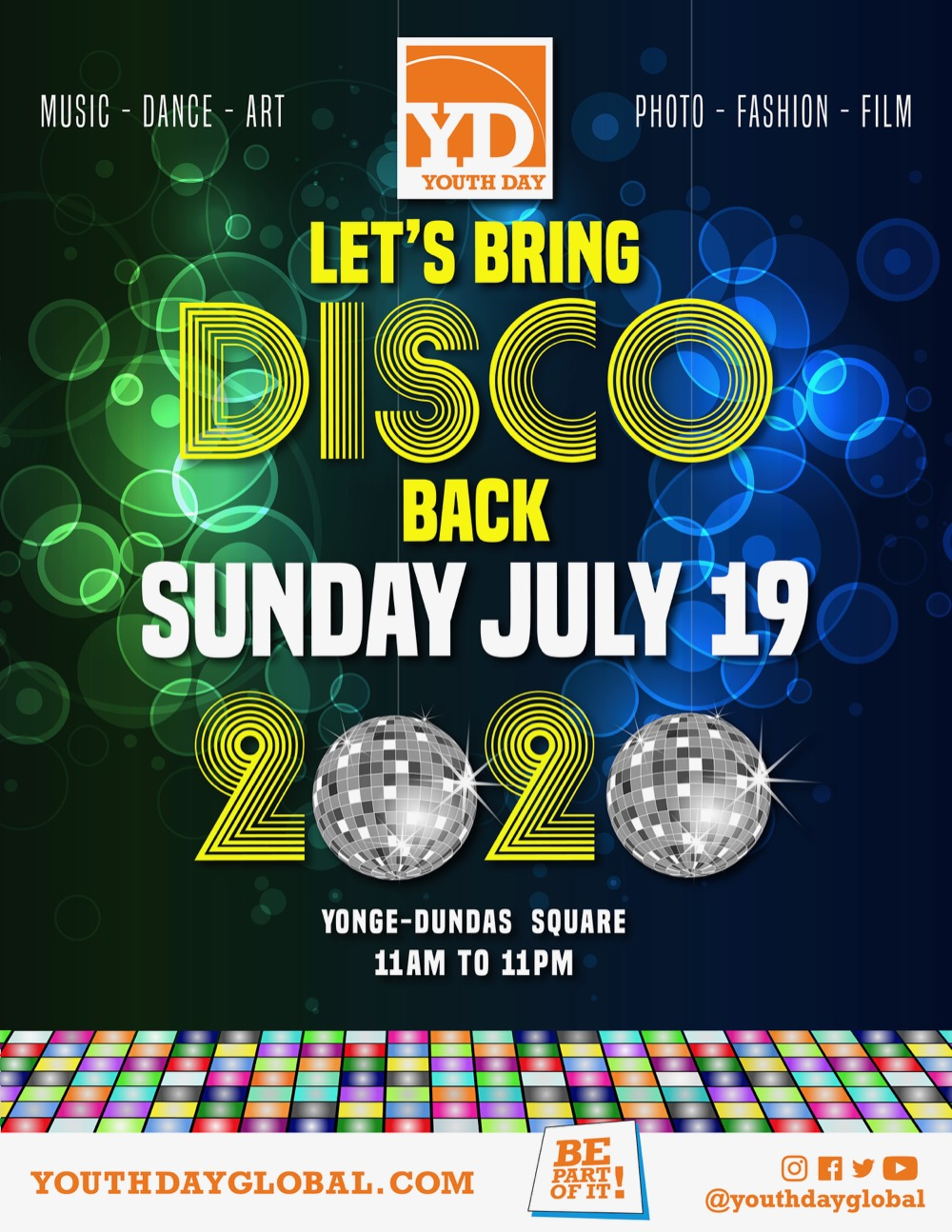 Youth Day Brings Disco Back Poster