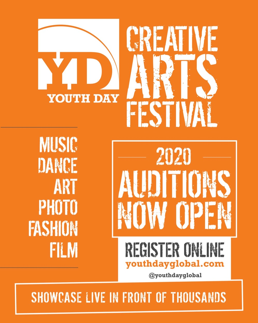 Youth Day Creative Arts Festival Call for Auditions Poster