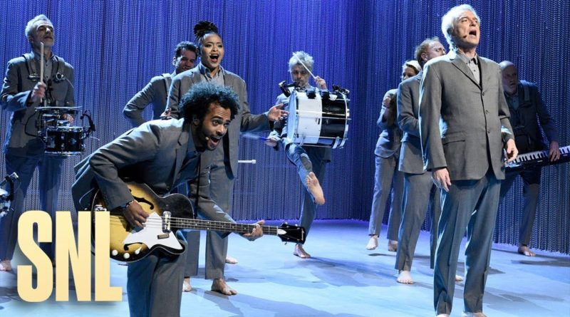 Still from David Byrne Once in a Lifetime on Saturday Night Live