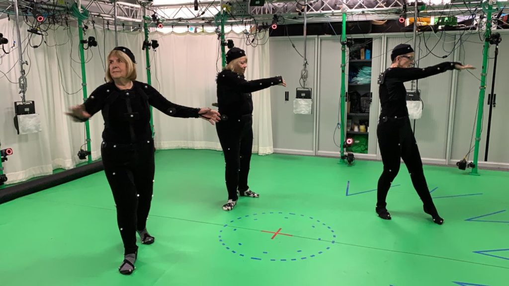 Volunteers in their seventies donned motion capture suits for the study to assess the effectiveness of an exercise programme