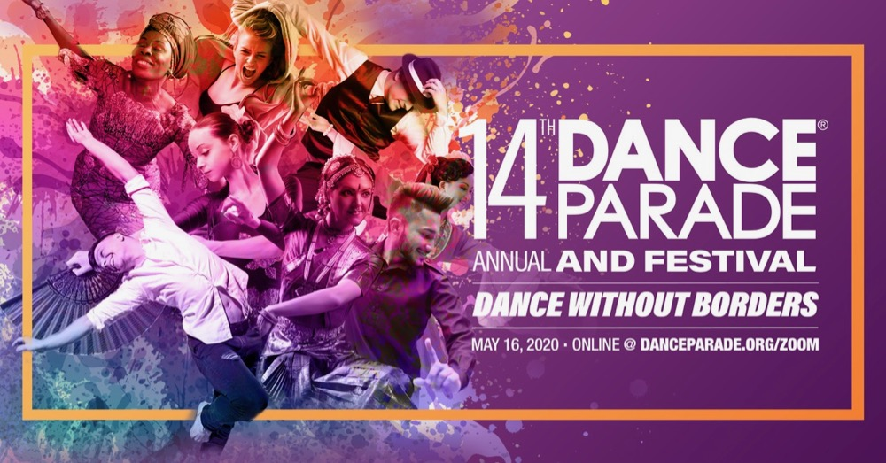 14th Annual Dance Parade and Festival-in-Place poster with dancers