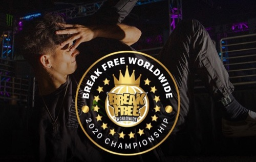Break Free Worldwide 2020 Championship Logo and Dancer