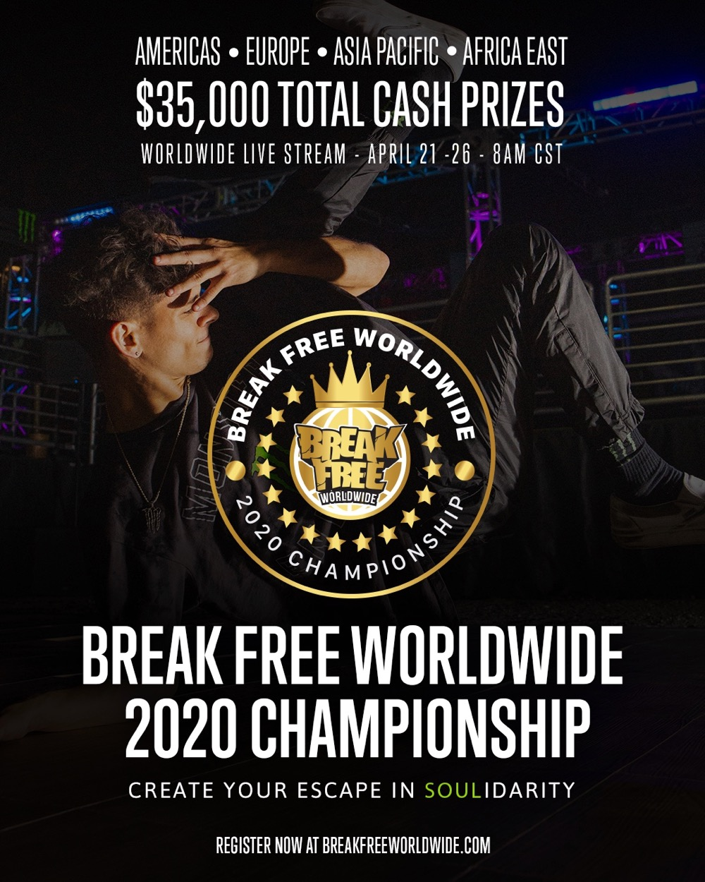 Break Free Worldwide 2020 Championship Poster