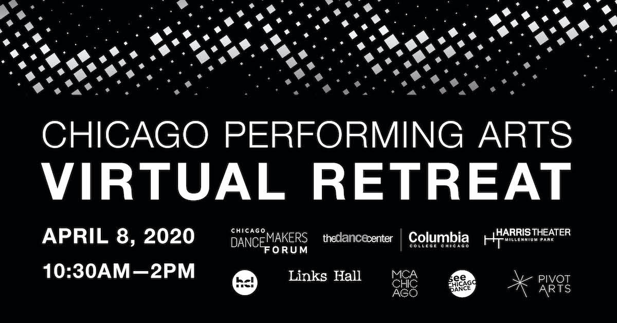 Chicago Performing Arts Virtual Retreat Announcement in Black and White