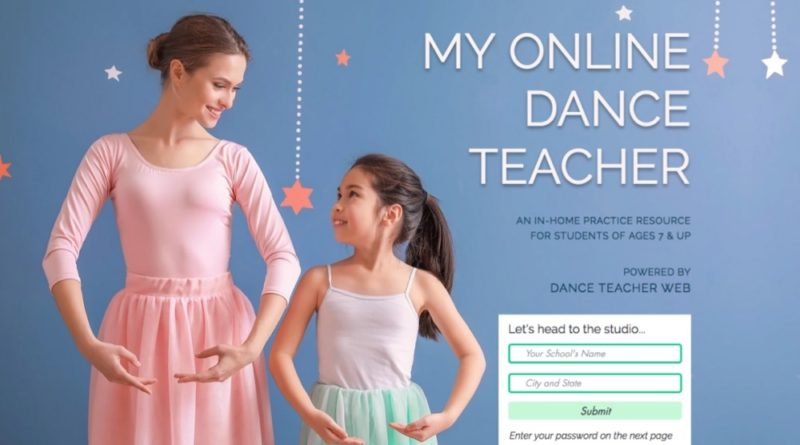 My Online Dance Teacher Website Image