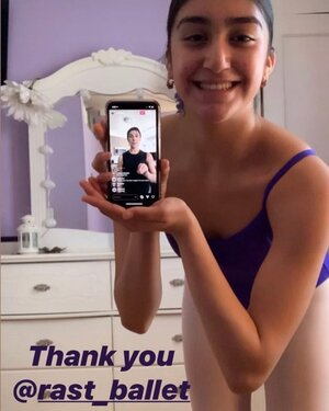 Thank You Rast Ballet from Dancer with Smartphone